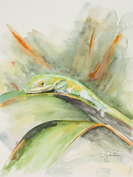 Anole A Courting Art | Debra Bruner Studio