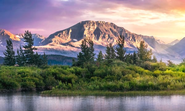 Glacier Mountain Sunset Photography Art | Studio 221 Photography