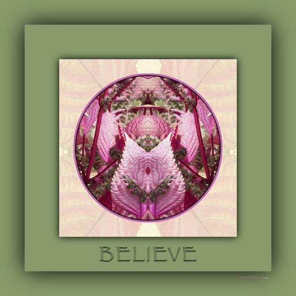 Red Shiso Number 1 BELIEVE - Debra Cortese Designs