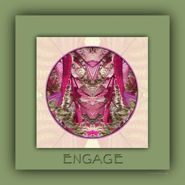 Red Shiso Number 7 ENGAGE - Debra Cortese Designs