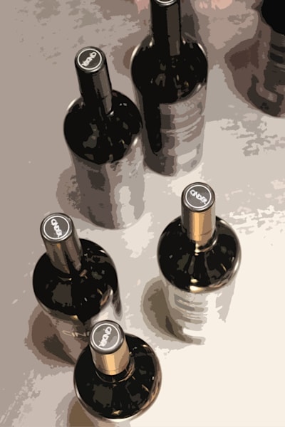 Wine Bottle Capsule Station Art | IN the Moment Creative