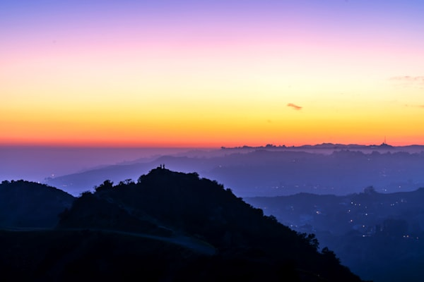 Griffith Park Sunset - Los Angeles California Images