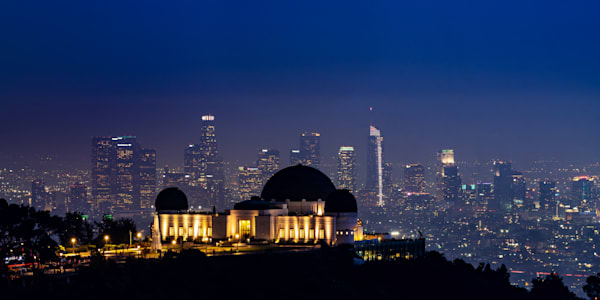 Los Angeles Skyline and the Griffith Observatory - Los Angeles Images