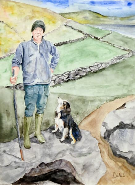 Dingle Sheep Farmer with Border Collie