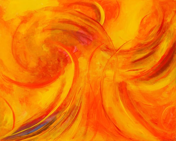 Phoenix Contemporary Art Modern Abstract Painting Original Art For Sale Canvas Painting Art | A Sharp Difference LLC
