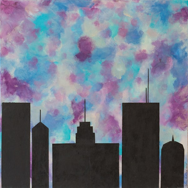 Chicago Modern Abstract Art Contemporary Canvas Wall Art Art | A Sharp Difference LLC