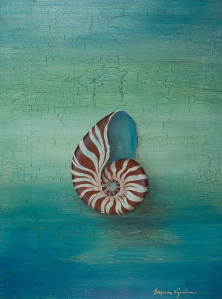 Blue Heart Nautilus Art | Lindberghaus, Art by Dagi G.