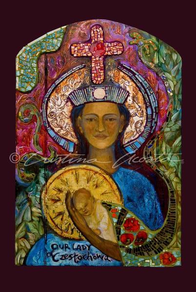 Our Lady Of Czestochowa  Art | Cristina Acosta Art & Design llc