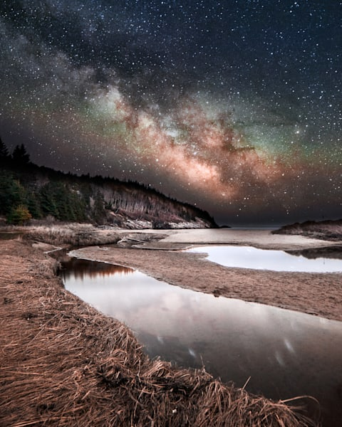 Sand Beach Milky Way Photography Art | Monteux Gallery