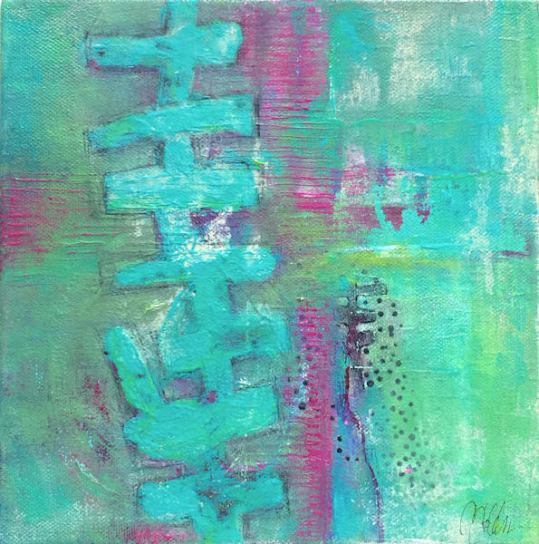 Beyond the Red Clover - Original Abstract Painting | Cynthia Coldren Fine Art