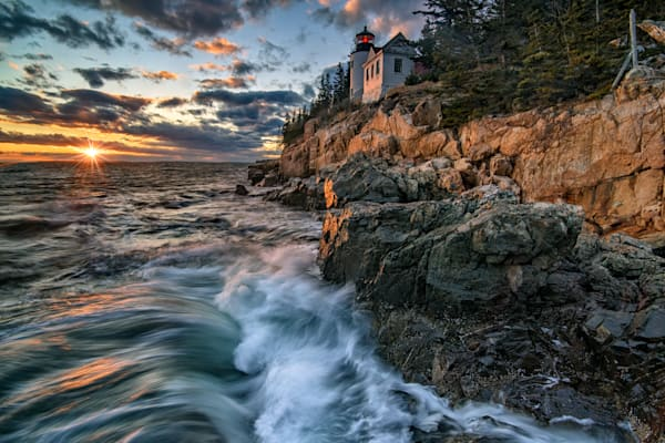 Last Light at Bass Harbor Head | Shop Photography by Rick Berk