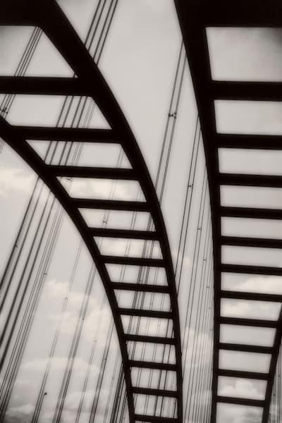 SKYBRIDGE IN MONCHROME PORTRAIT