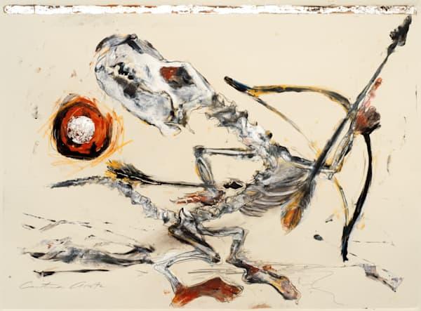 coyote dancer 2 monotype american indian art