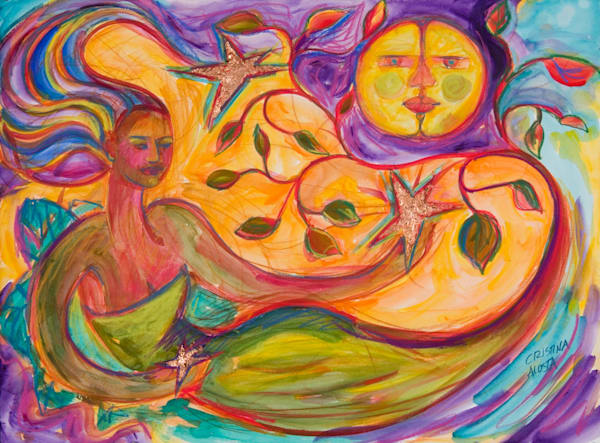 mother earth and the moon cristina acosta
