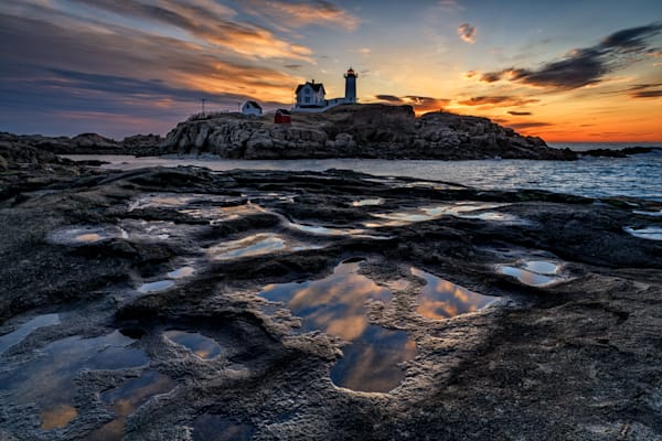 Reflections of Sunrise at Cape Neddick | Shop Photography by Rick Berk