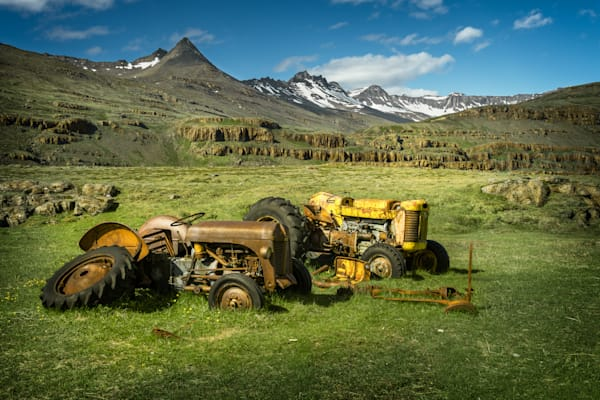 Tractors in Iceland