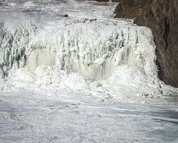 Photography By Festine Cohoes Falls almost totally frozen