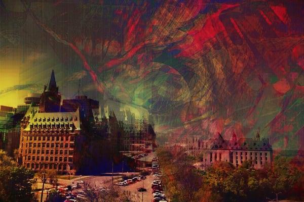 Ottawa Parliament V Art   Maciek Peter Kozlowski Art
