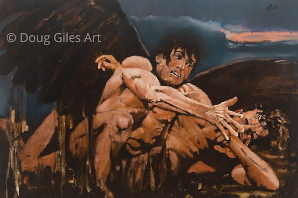 Jacob Wrestling An Angel Art | Doug Giles Art, LLC