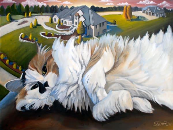 Cat, Painting,
