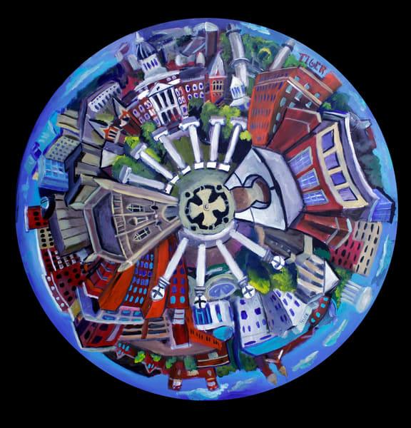 Columbia Round V2 Art | David Spear