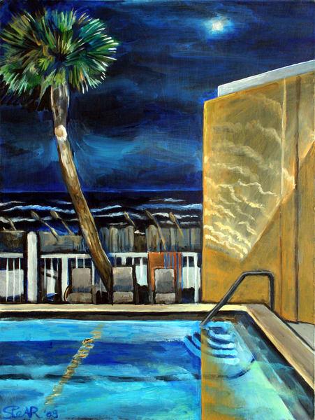 Night Time Destin Florida Art | David Spear