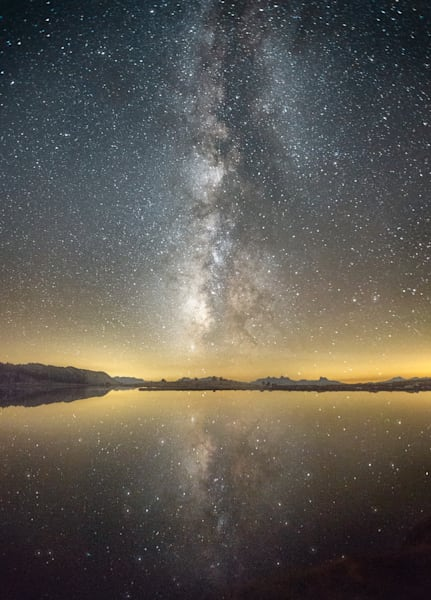 The Infinite, reflections of the Milky Way in a Sierra lake