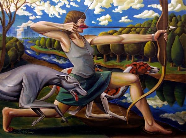 Death Of Actaeon Art | David Spear