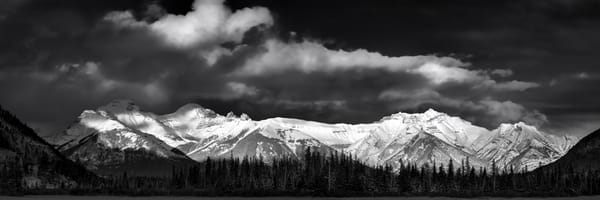 The Fairholme Range at sunset in Banff National Park. Canadian Rockies|Rocky Mountains|