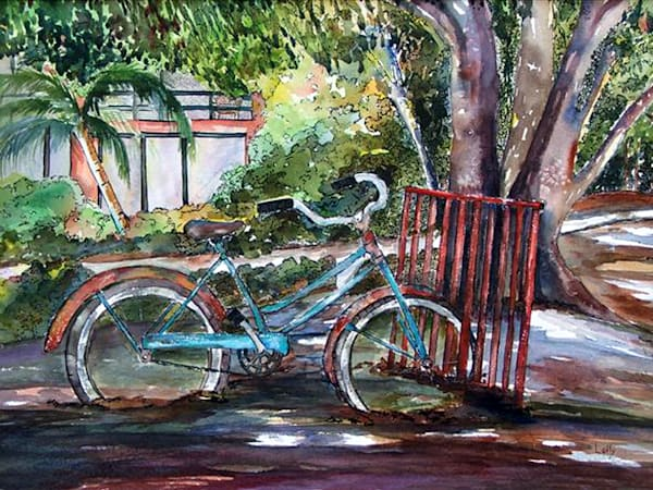 Buttonwood Bike NC, From an Original Watercolor Painting
