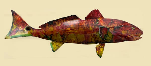 M Lokken   Redfish Laser Cut Steel | Branson West Art Gallery - Mary Phillip