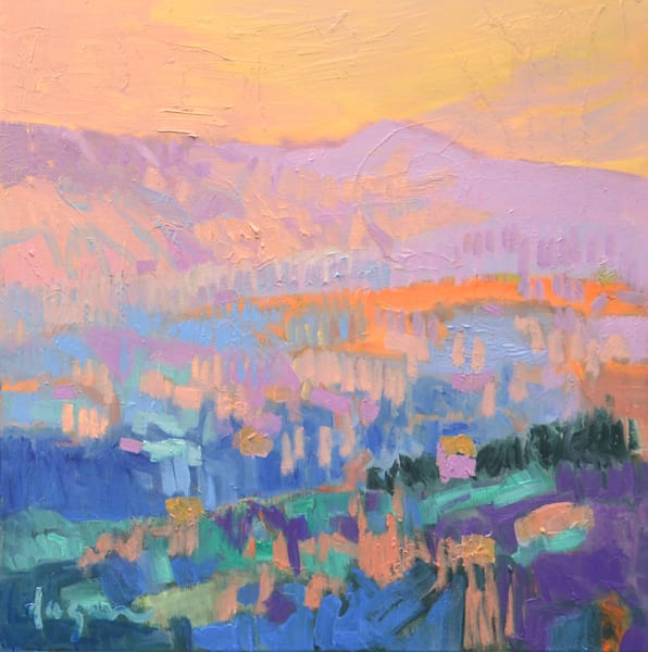 Abstract Mountain Landscape Oil Painting by Dorothy Fagan