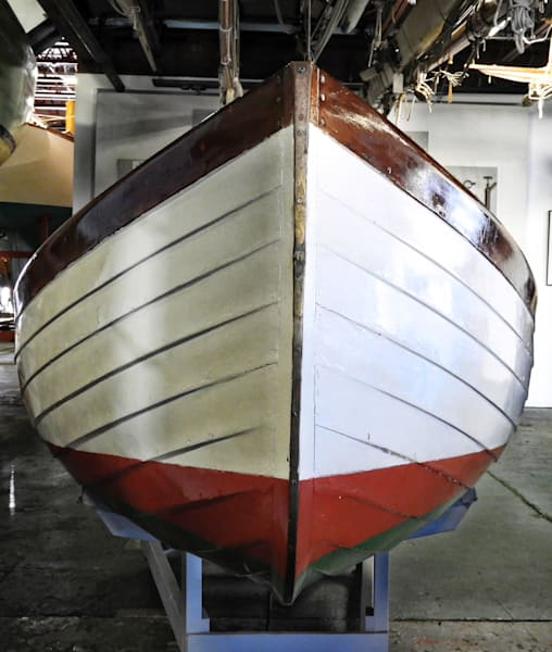Bow View Of Herreshoff Lapstrake Tender by Keith R Wahl, Made From RI Gallery