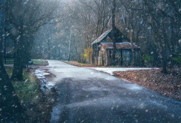 Snowy Barn  Photography Art | Studio 221 Photography