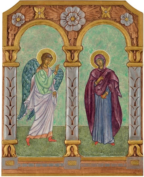 """Annunciation Diptych"" fine art print by Katherine de Shazer."