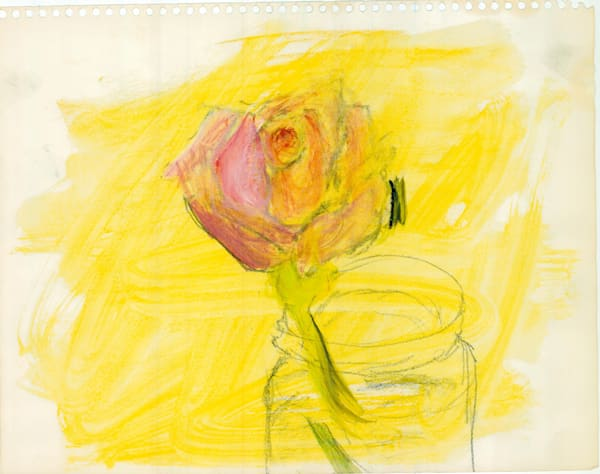 Red Rose Against The Yellow Art   Howard Lawrence Fine Art