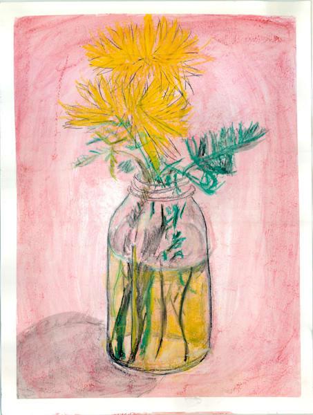 Yellow Flower, Big Mason Jar Art | Howard Lawrence Fine Art