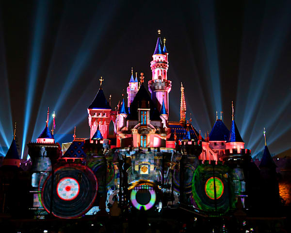 Mickey S Mix Magic With Fireworks Dj Castle Photography Art   William Drew Photography