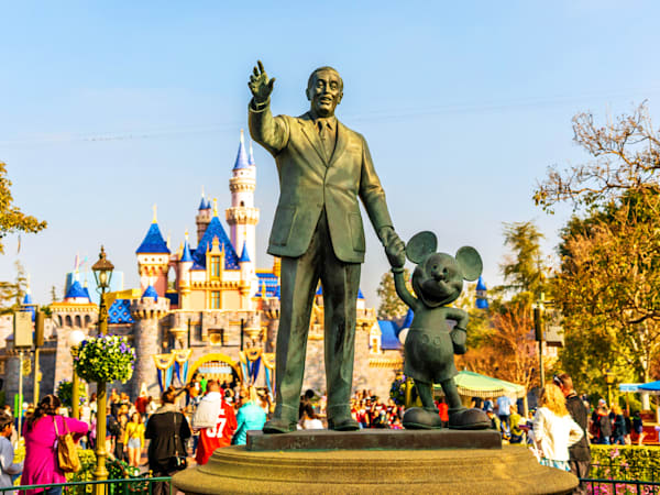 Partners Statue At Disneyland Photography Art | William Drew Photography