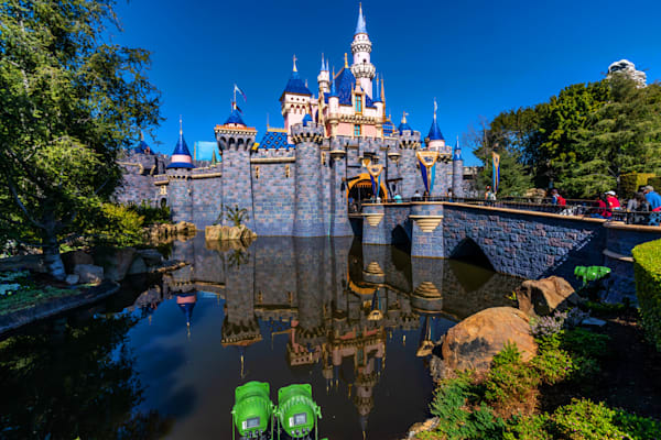 Sleeping Beauty Castle Afternoon Reflection Photography Art | William Drew Photography
