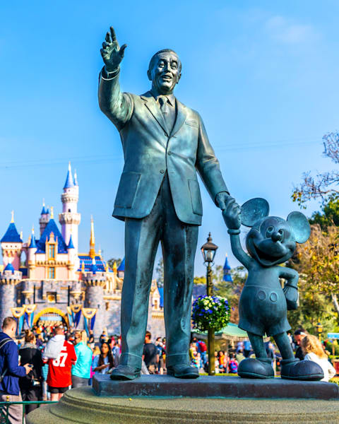 Disneylands Partners Statue Photography Art | William Drew Photography