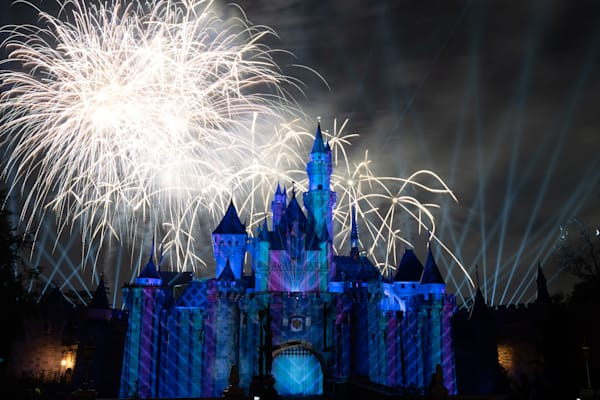 Mickey S Mix Magic With Fireworks Elsa Photography Art | William Drew Photography