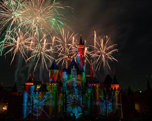 Mickey S Mix Magic With Fireworks Event Photography Art | William Drew Photography