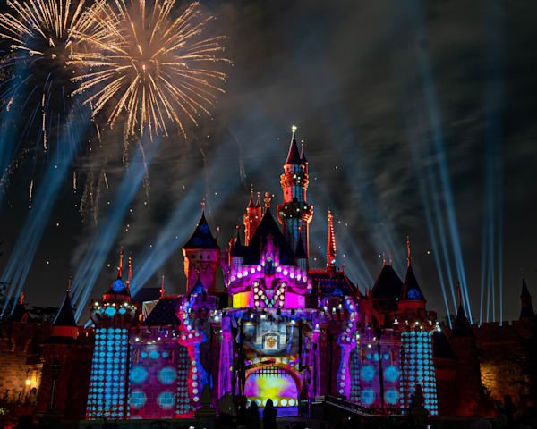Mickey S Mix Magic With Fireworks Dots Photography Art | William Drew Photography