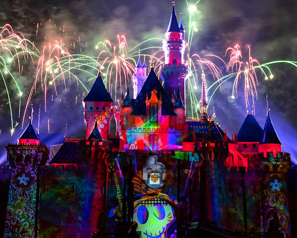 Mickey's Mix Magic With Fireworks Coco Photography Art | William Drew Photography