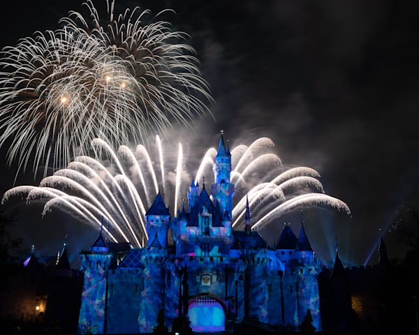 Mickey's Mix Magic With Fireworks Frozen Ii Photography Art | William Drew Photography