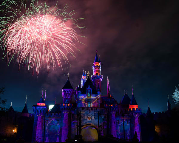 Mickey's Mix Magic With Fireworks Genies Lamp Photography Art | William Drew Photography