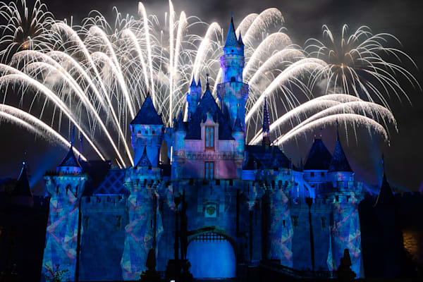 Mickey's Mix Magic with Fireworks Let it Go - Best Disneyland Photos