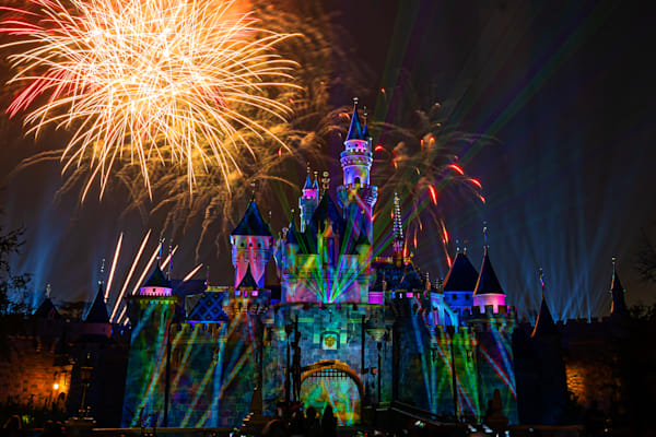 Mickey's Mix Magic with Fireworks Lasers - Disneyland Photography
