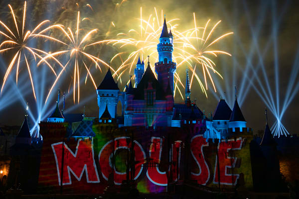 Mickey S Mix Magic With Fireworks Mouse Photography Art | William Drew Photography